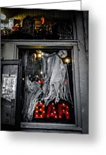 Haunted Bar Greeting Card