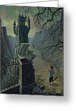 Haunted Castle Nightmare Greeting Card