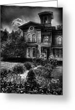 Haunted - Haunted House Greeting Card by Mike Savad