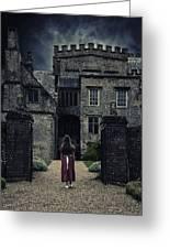 Haunted House Greeting Card by Joana Kruse