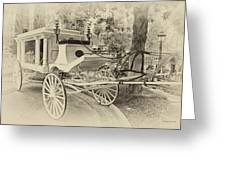 Haunted Mansion Hearse New Orleans Disneyland Heirloom Greeting Card