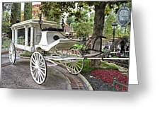 Haunted Mansion Hearse New Orleans Disneyland Greeting Card