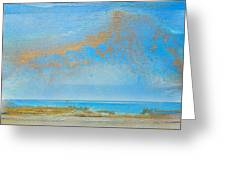 Hauxley Haven Rhythms And Blues  Greeting Card by Mike   Bell