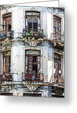 Havana Balconies Greeting Card