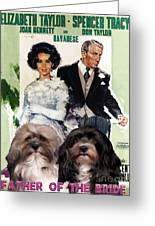 Havanese Art - Father Of The Bride Movie Poster Greeting Card