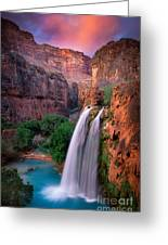 Havasu Falls Greeting Card by Inge Johnsson
