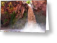 Havasu Falls Study 2 During Flash Flood Greeting Card