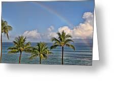 Hawaii Rainbow Greeting Card