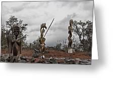Hawaii Sculptures Greeting Card