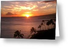 Hawaii Waikiki Sunset Greeting Card