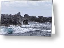 Hawaii Waves V1 Greeting Card