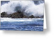 Hawaii Waves V3 Greeting Card