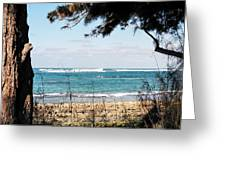 Hawaiian Beach Greeting Card