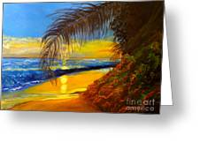 Hawaiian Coastal Sunset Greeting Card