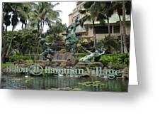 Hawaiian Hilton Statues Greeting Card