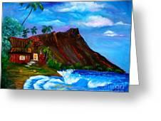 Hawaiian Homestead At Diamond Head Greeting Card