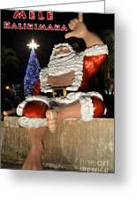 Hawaiian Santa Greeting Card