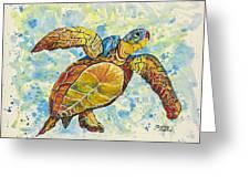 Hawaiian Sea Turtle 2 Greeting Card