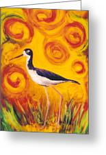 Hawaiian Stilt Sunset Greeting Card