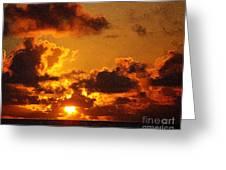 Hawaiian Sunrise Greeting Card