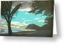 Hawaiian Sunset Greeting Card