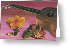 Hawaiian Ukulele Greeting Card by Darice Machel McGuire