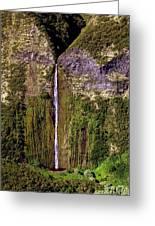 Hawaiian Waterfall Greeting Card