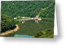 Hawks Nest Dam Greeting Card