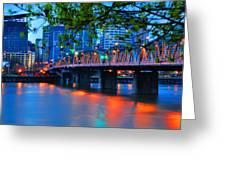 Hawthorne Bridge 22958 Greeting Card