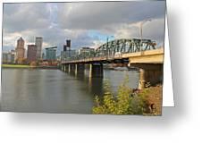 Hawthorne Bridge Portland 001 Greeting Card