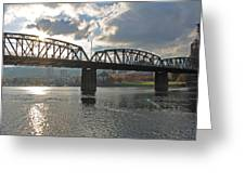 Hawthorne Bridge Portland 002 Greeting Card