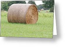 Hay Bale Greeting Card