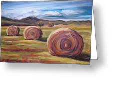 Hay Harvest Greeting Card