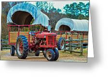 Hay Rides Trailer Greeting Card