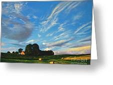 Hay Rolls On The Farm Series One In Westmoreland County Pennsylvania Greeting Card