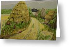 Hay Stack Greeting Card by Lilibeth Andre