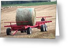 Hay Wagon Greeting Card