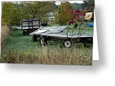 Hay Wagons Greeting Card