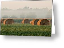 Haybales Greeting Card