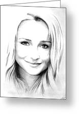 Hayden Panettiere Greeting Card by Wu Wei