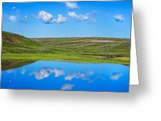 Hayden Valley Cloud Reflection Yellowstone National Park Greeting Card
