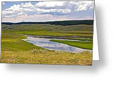 Hayden Valley In Yellowstone National Park-wyoming Greeting Card