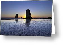 Haystack Needles Rocks At Cannon Beach Greeting Card