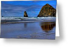 Haystack Rock And The Needles II Greeting Card