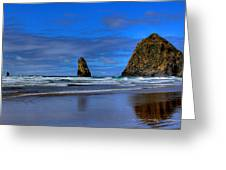 Haystack Rock And The Needles IIi Greeting Card