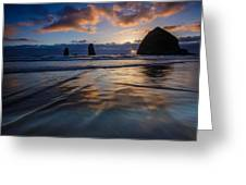 Haystack Rock And The Needles Greeting Card