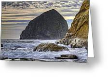 Haystack Rock At Cape Kiwanda Greeting Card