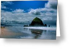 Haystack Rock Iv Greeting Card