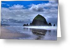 Haystack Rock Iva Greeting Card