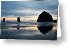 Haystack Rock On Cannon Beach Oregon Greeting Card